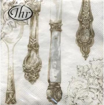 Cutlery White Gold Napkin 33x33
